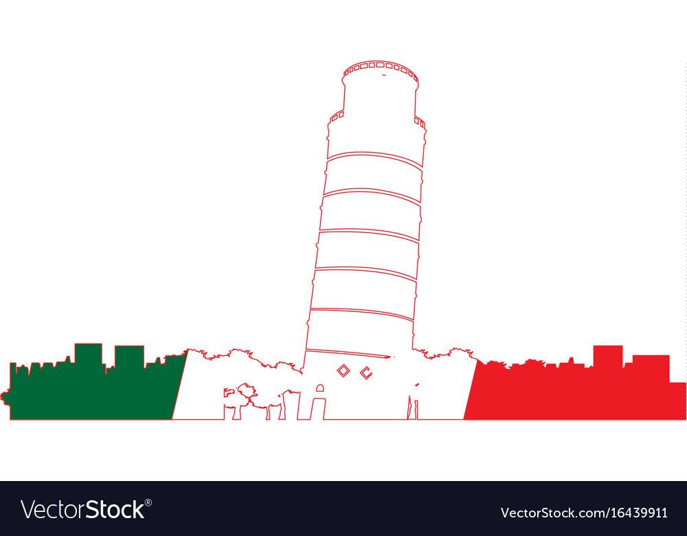Isolated cityscape of pisa vector image