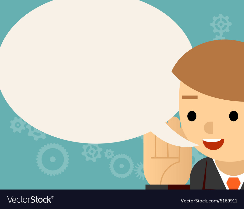 Speaking Businessman and speech bubble