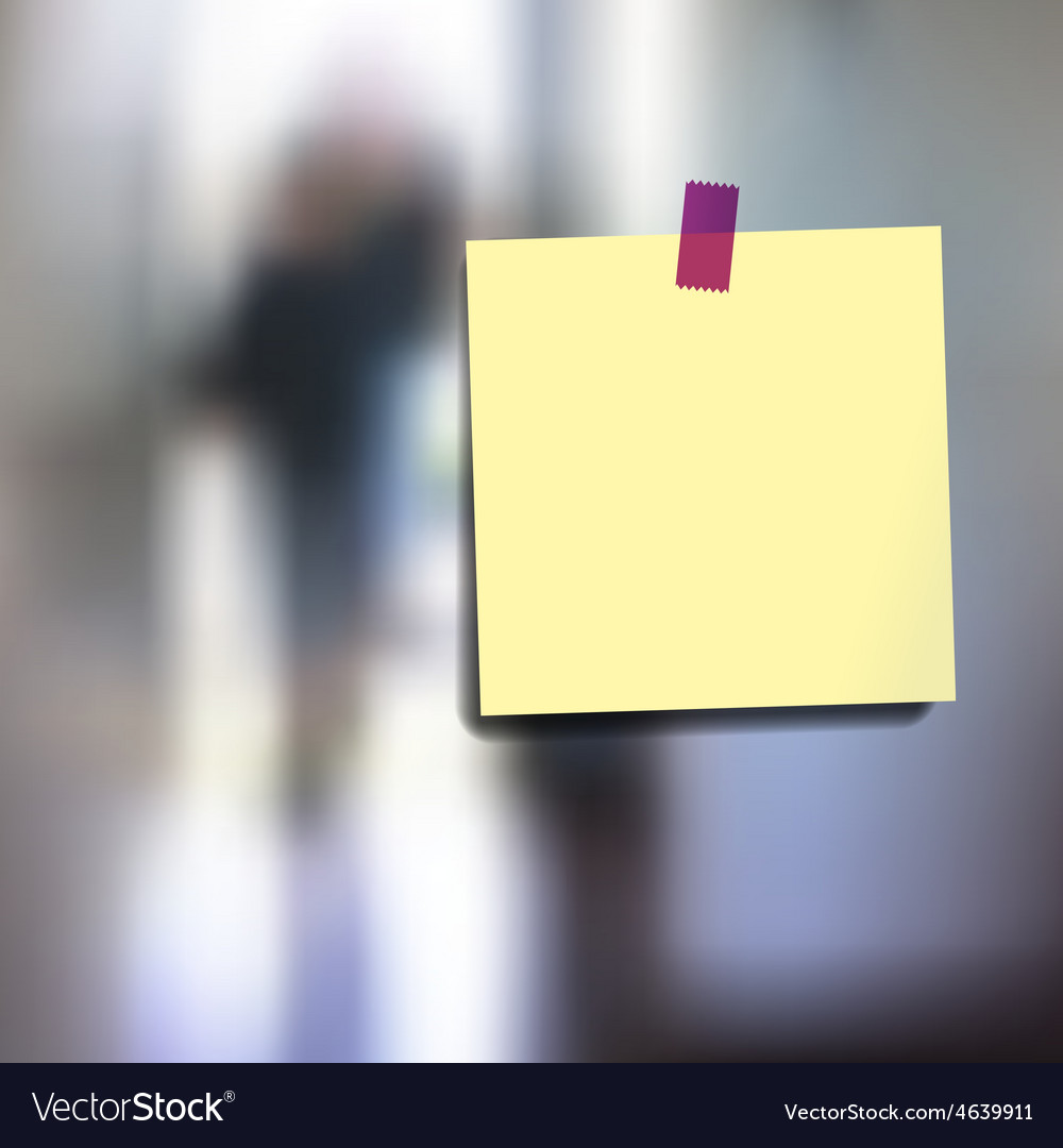 Sticky notes wallpaper vector image