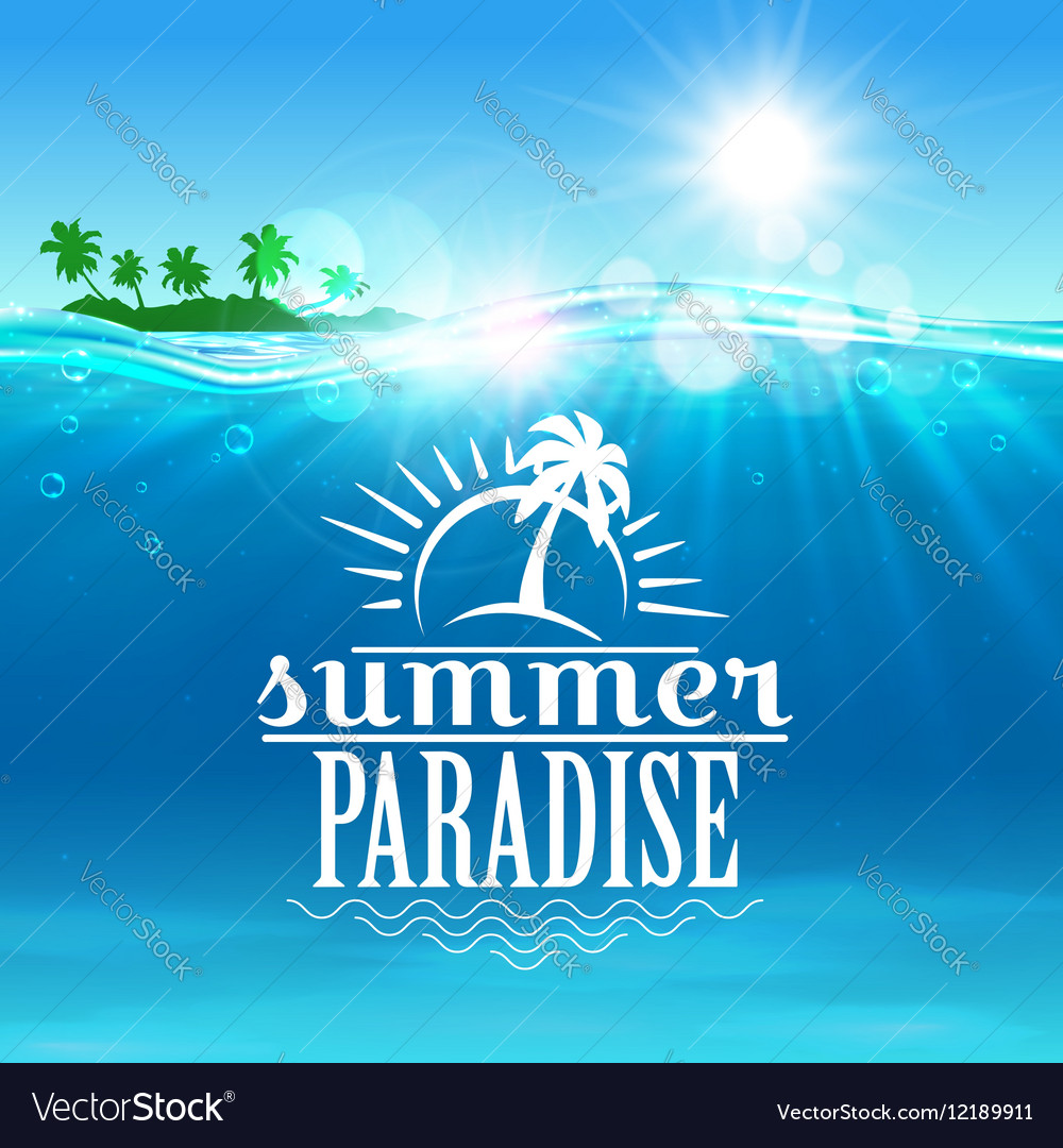 Summer travel holiday poster for vacation design vector image