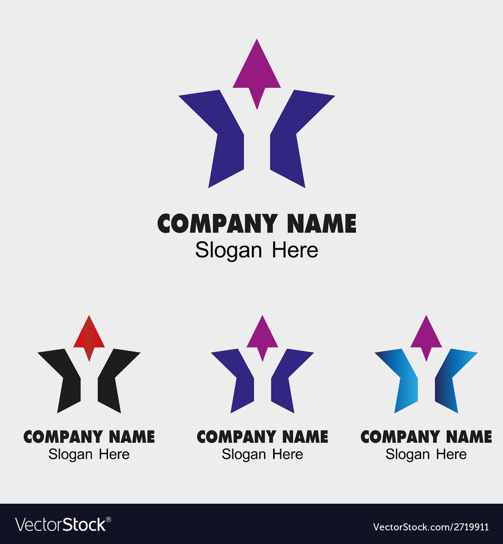 Y letter logo design with star symbol