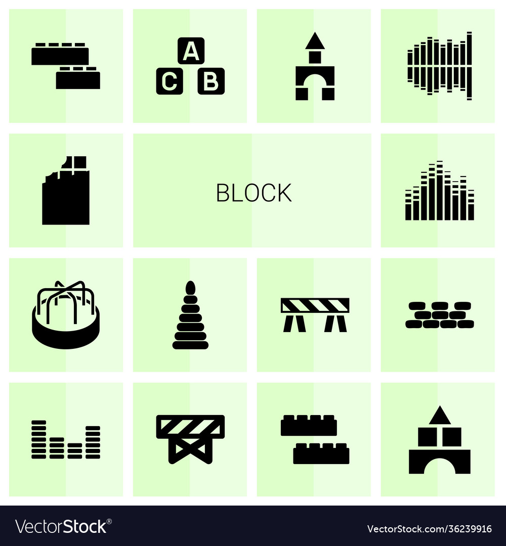 Block icons