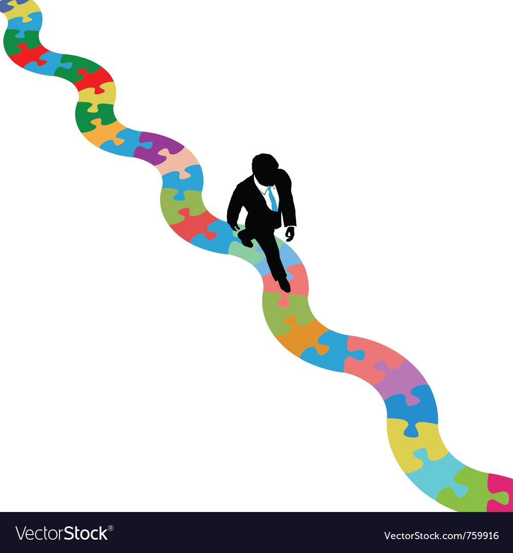 Business person walks vector image