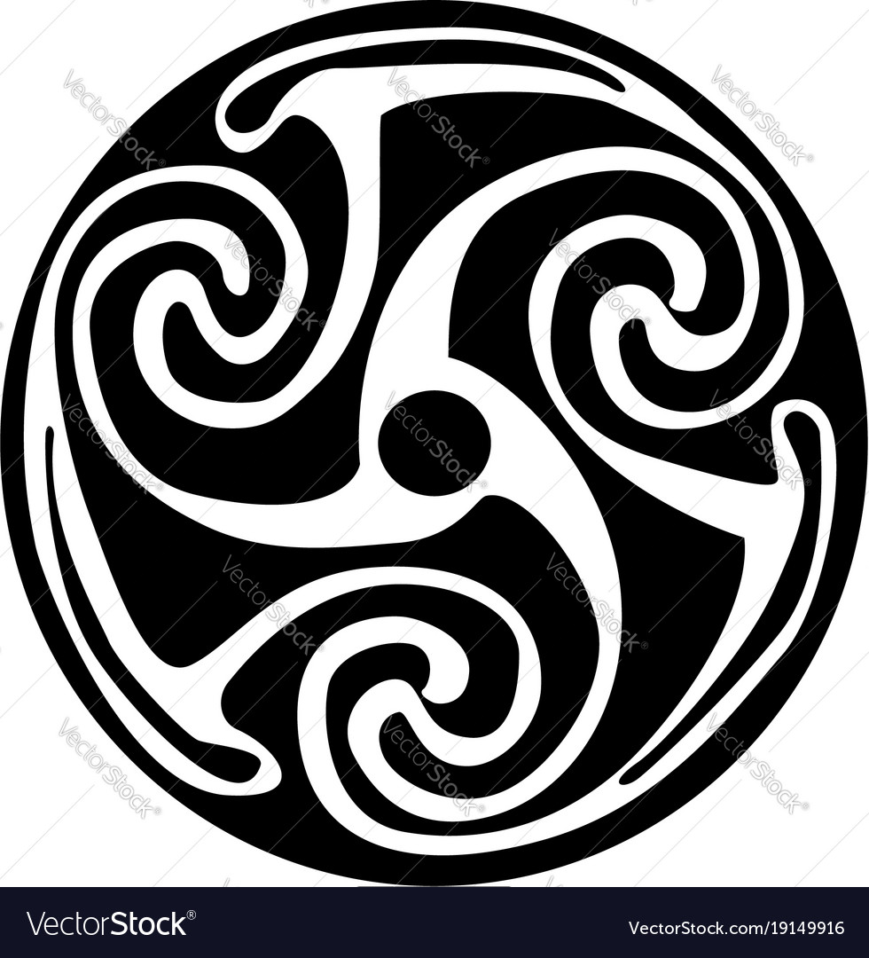 Celtic Symbol Tattoo Or Artwork Royalty Free Vector Image