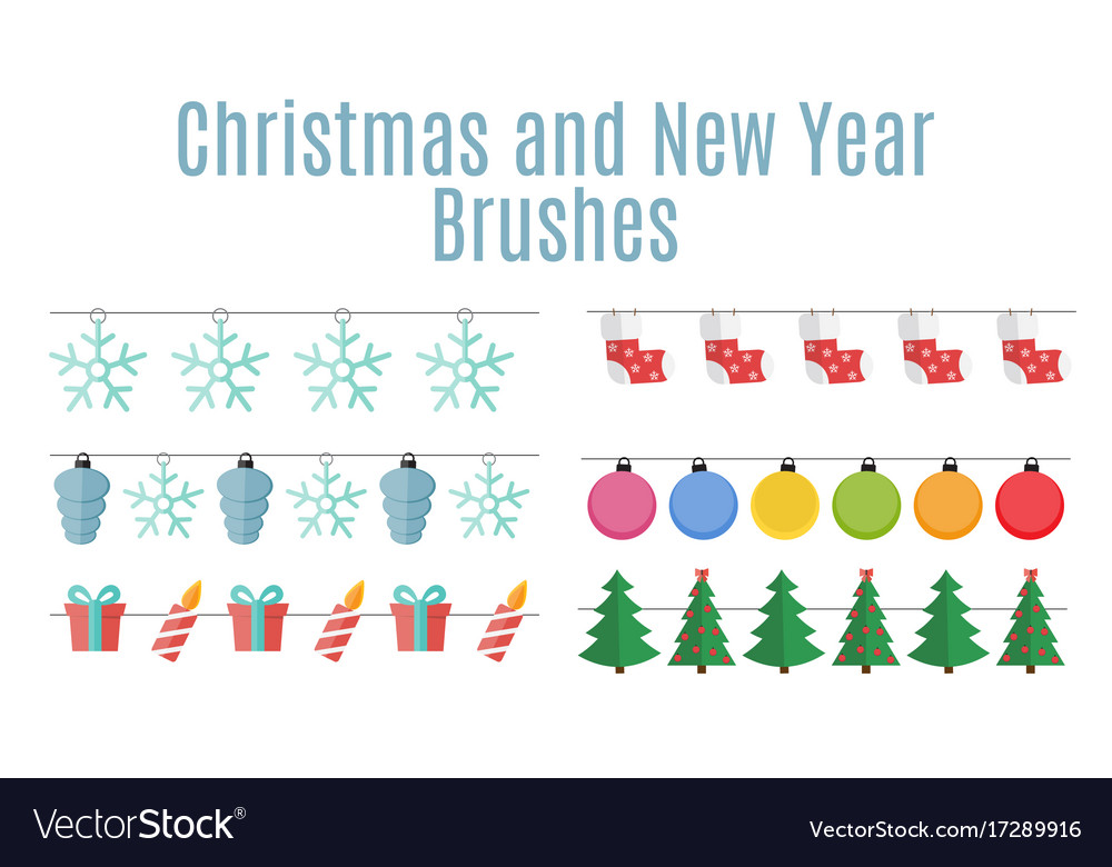 Christmas and new year party flags buntings