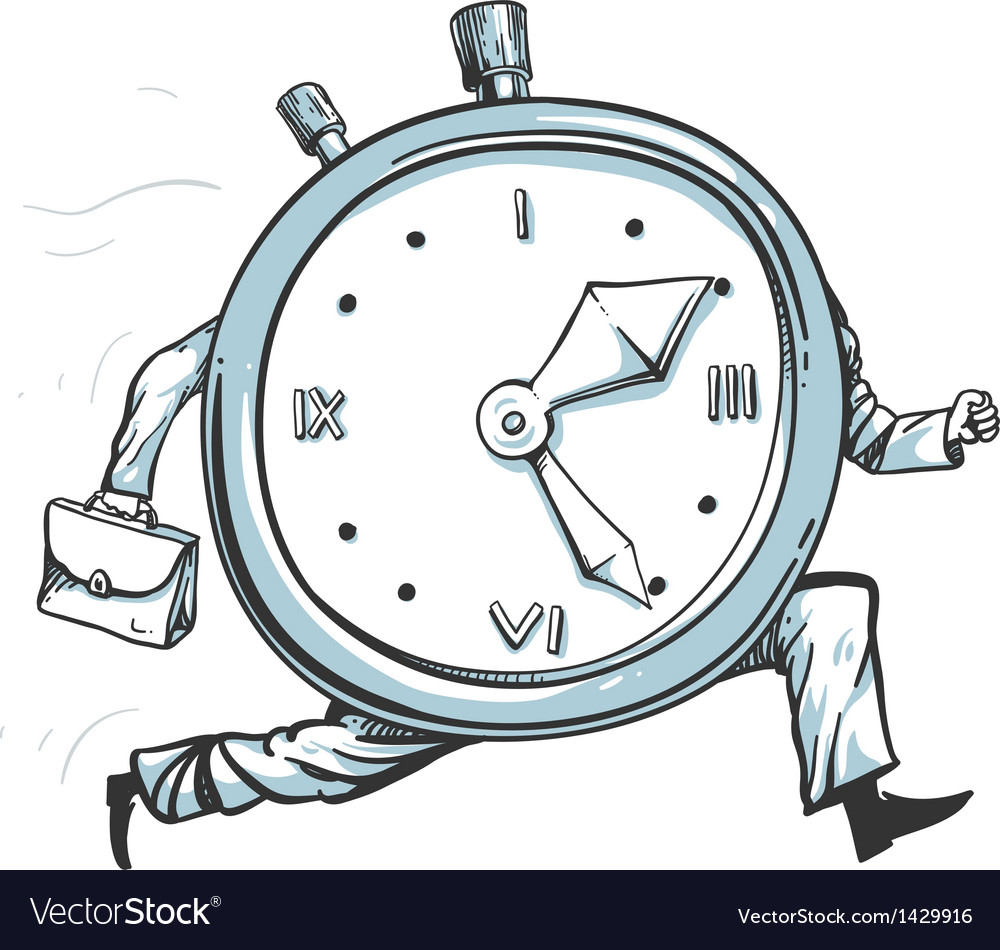 clock running out of time royalty free vector image