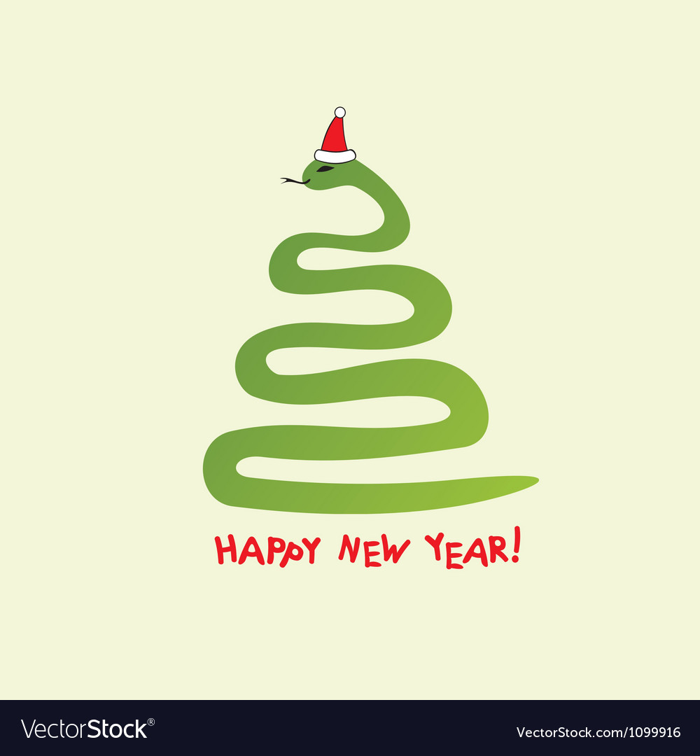 Happy new year snake background