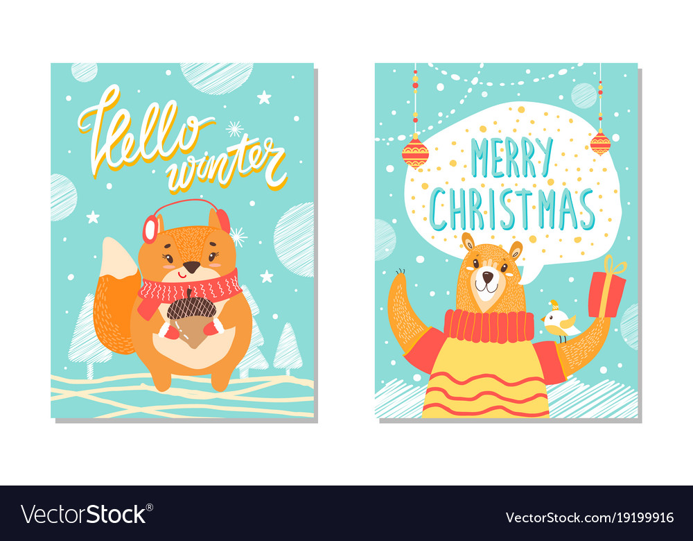 Hello winter christmas set