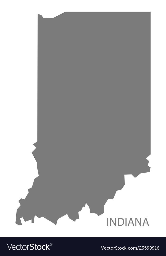 Indiana usa map grey
