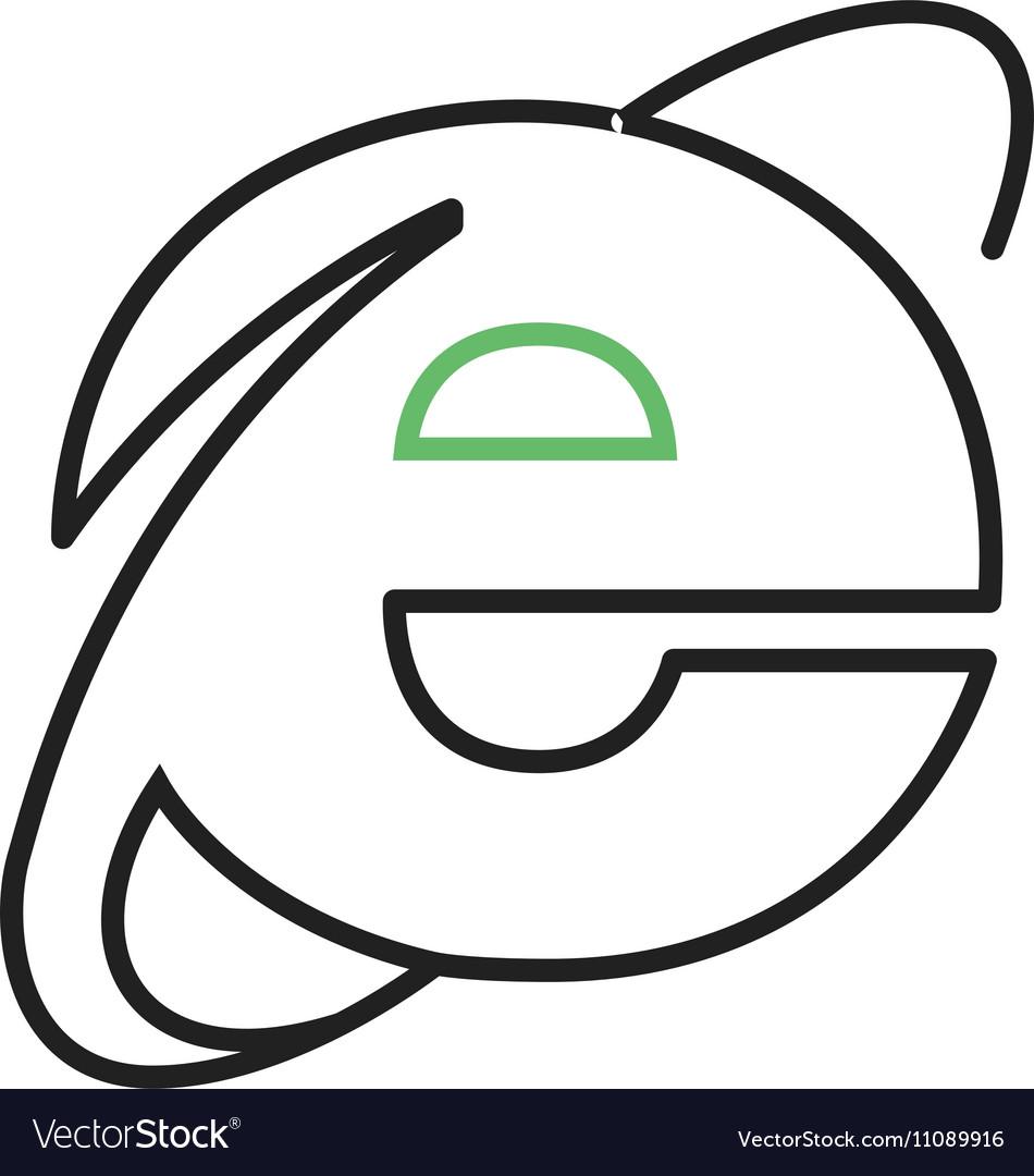 Internet Explorer Royalty Free Vector Image Vectorstock