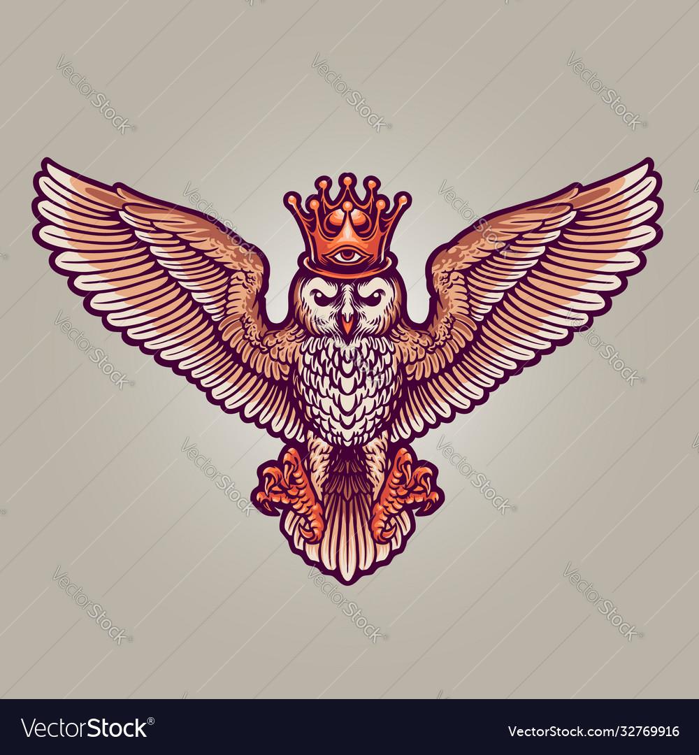 King owl mascot