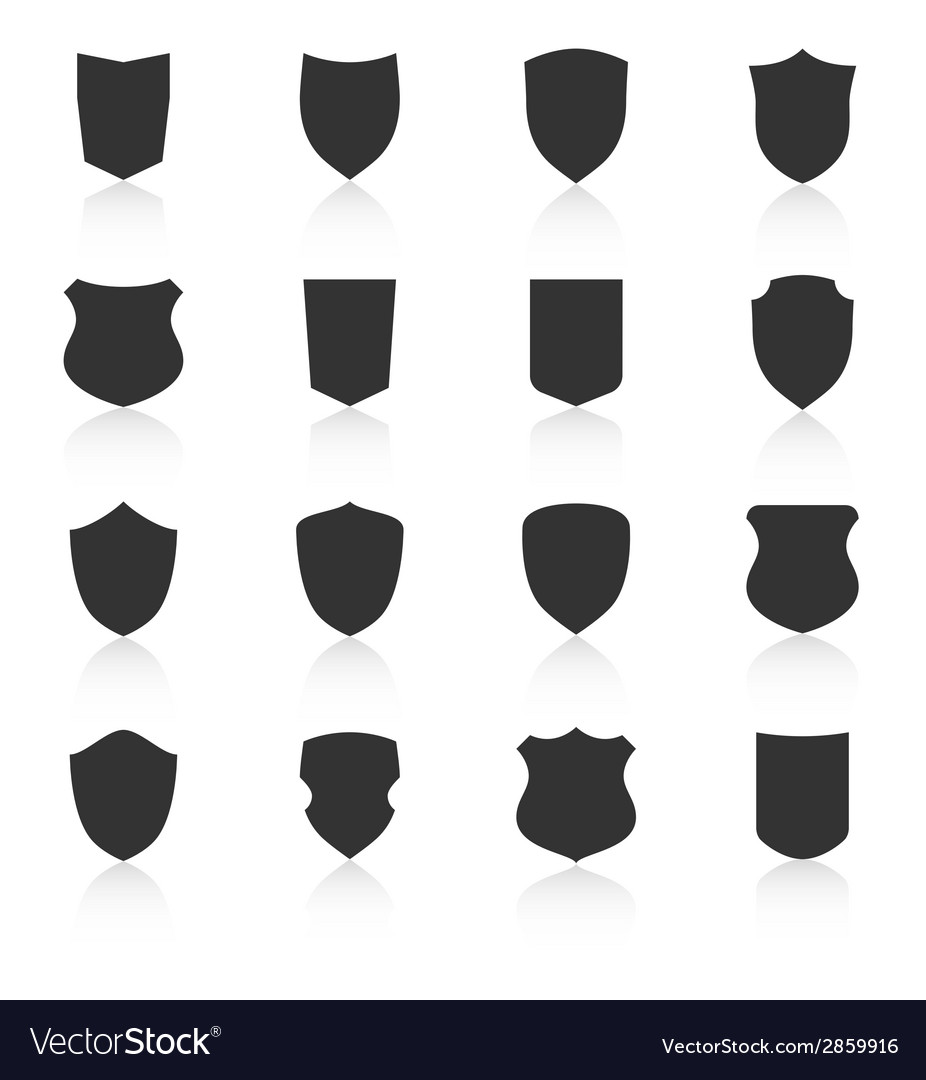 Set different shield shapes icons