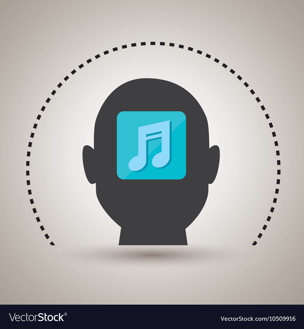 Silhouette music note icon