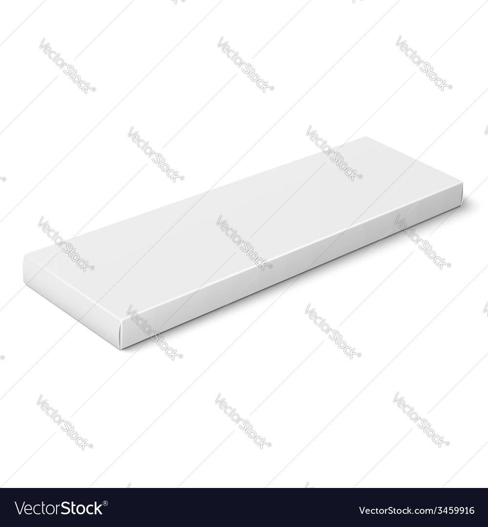 White slim paper box template
