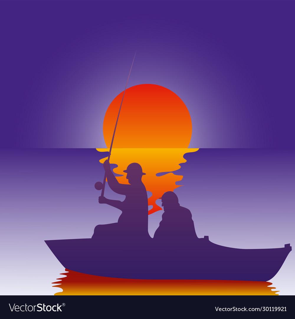Background fisherman
