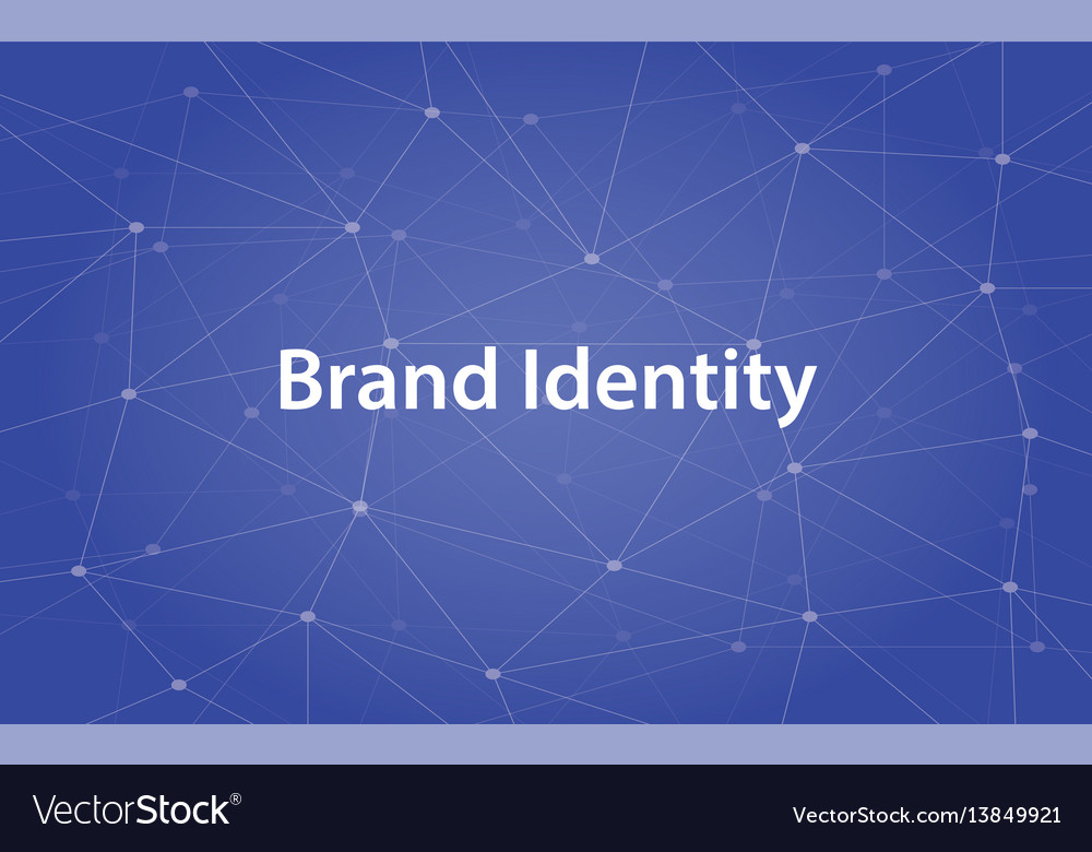 Brand identity white text with
