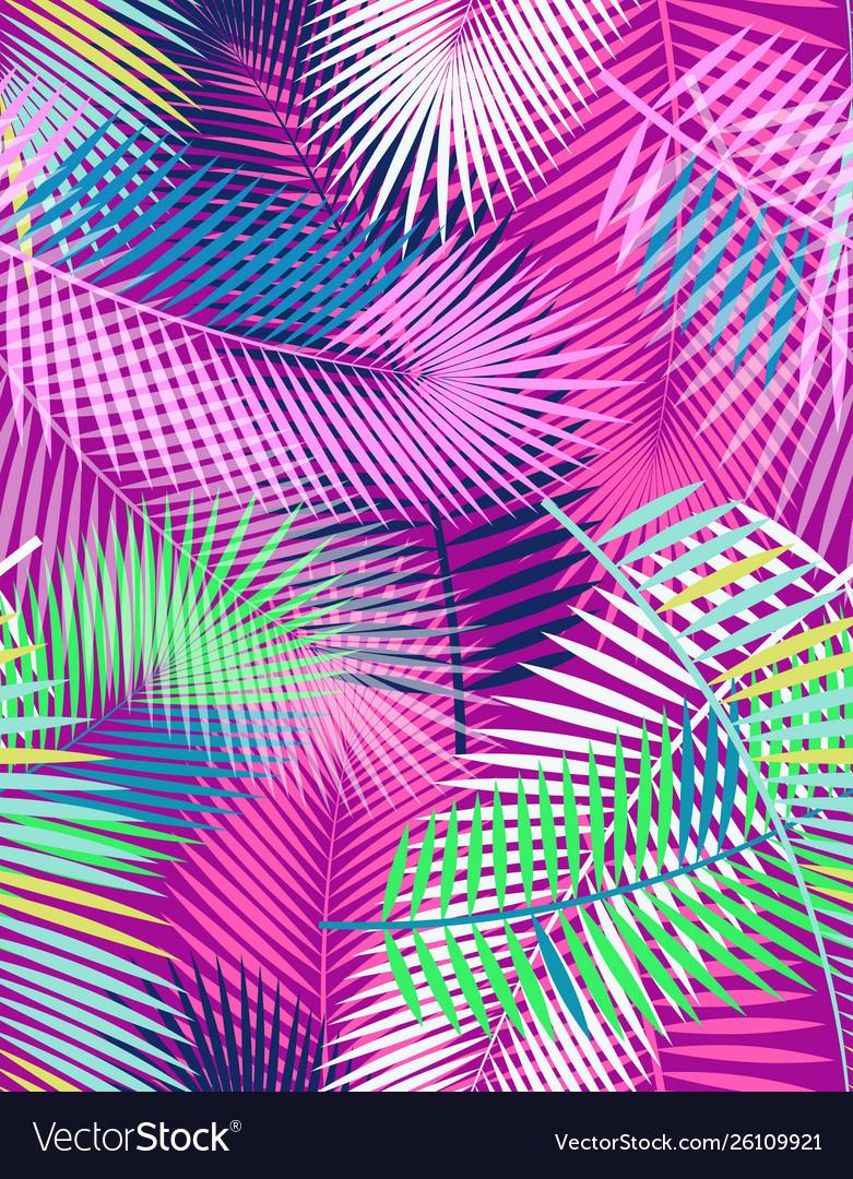 Color palm leaf pattern