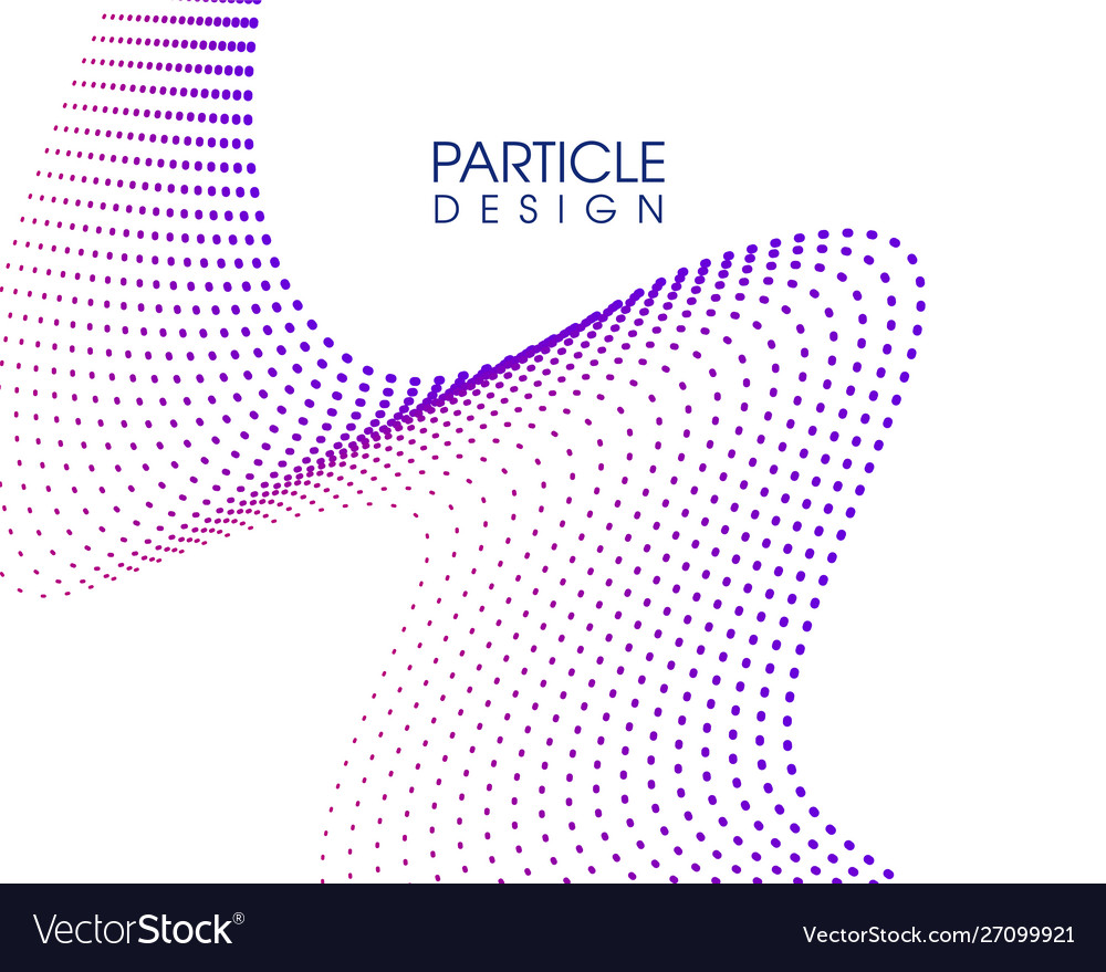 Creative abstract particle design