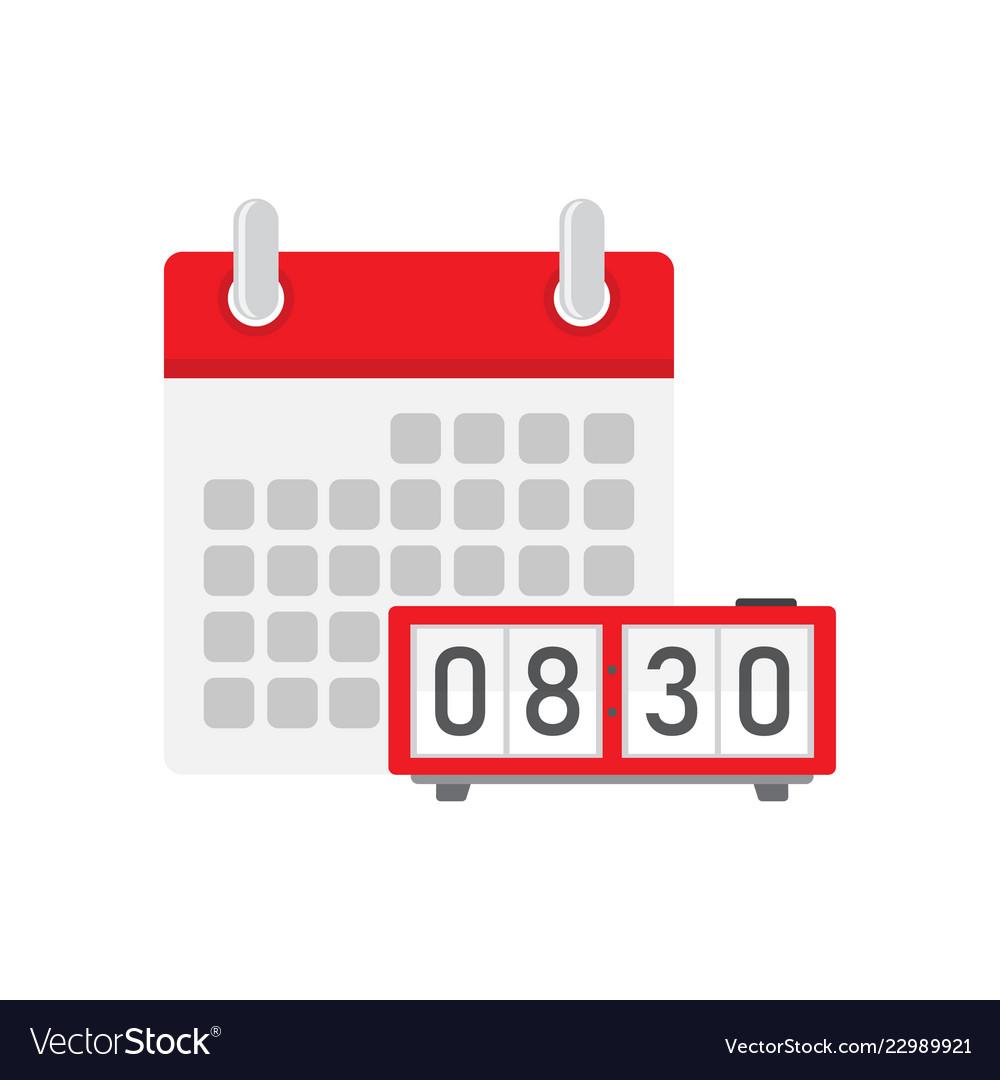 Digital clock with calendar