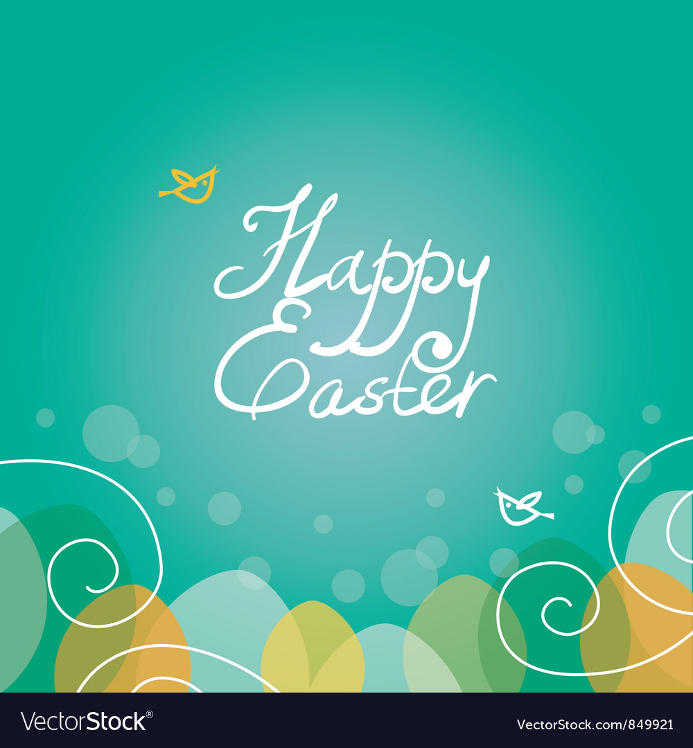 Easter background vector image