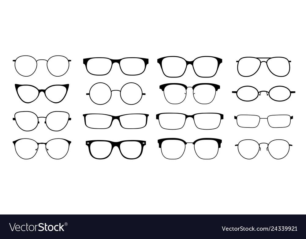 Glasses silhouette sun glasses hipster frame set