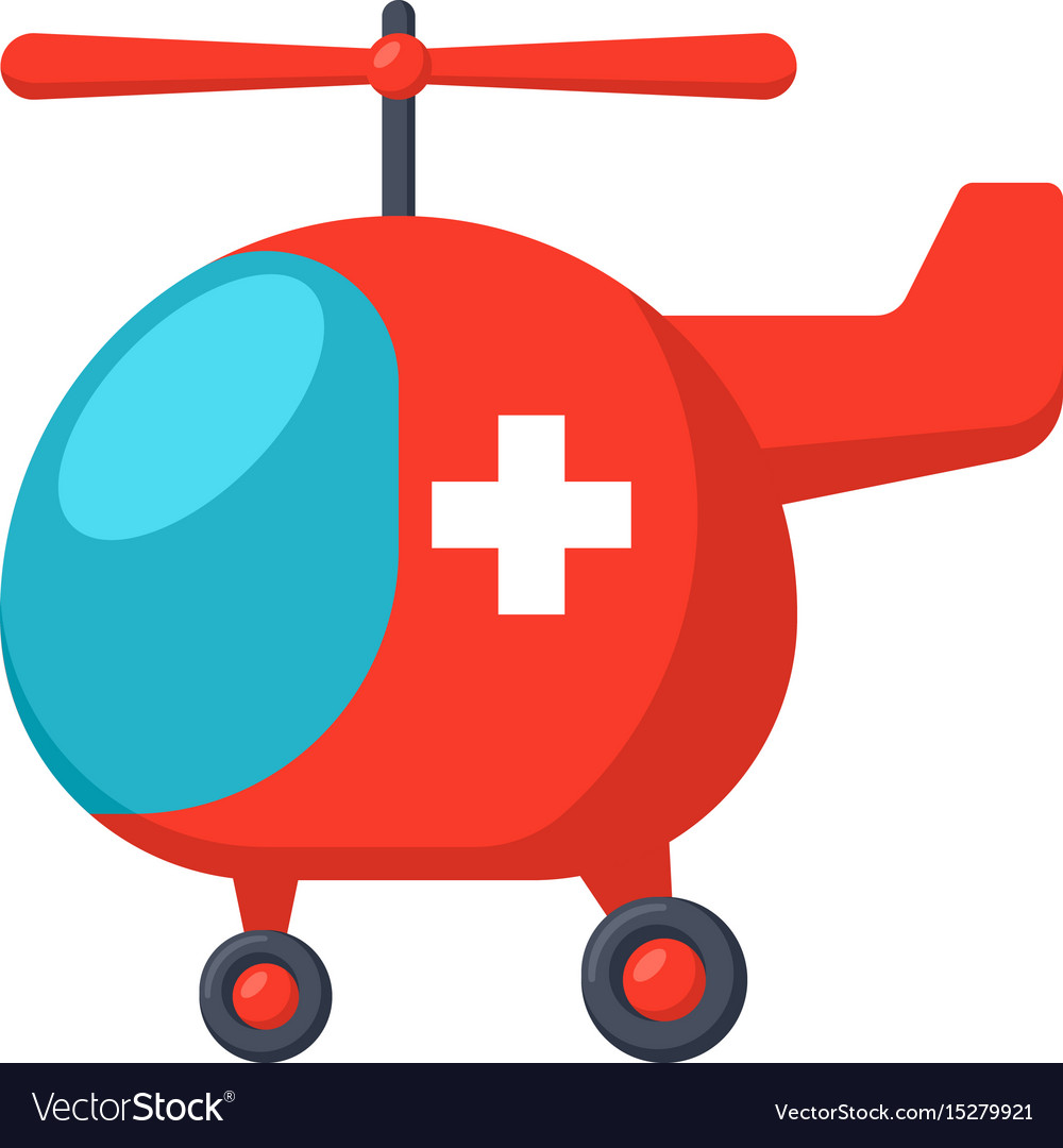 Medical air ambulance vector image