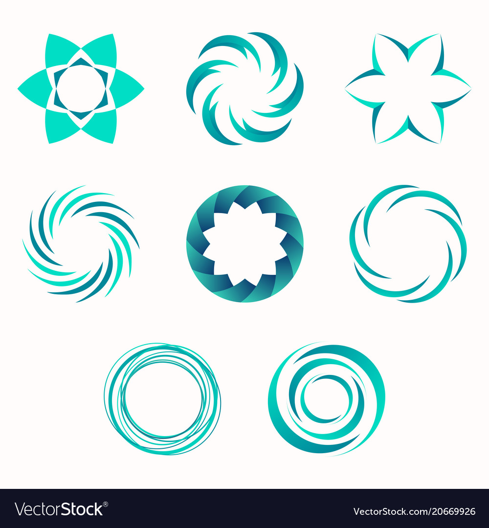 Abstract Geometric Shapes Symbols For Your Design