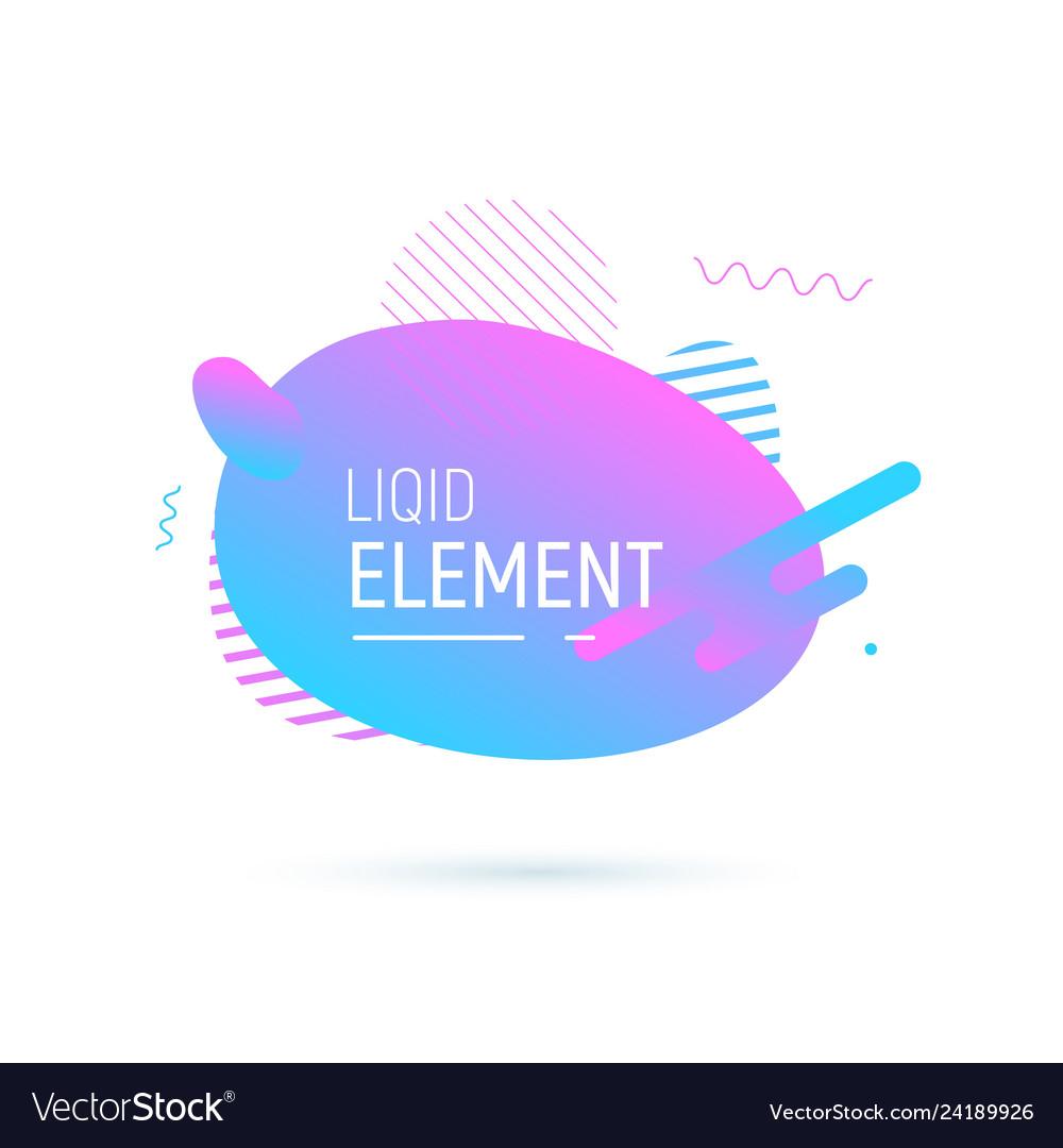 Abstract shape design liquid fluid elemend