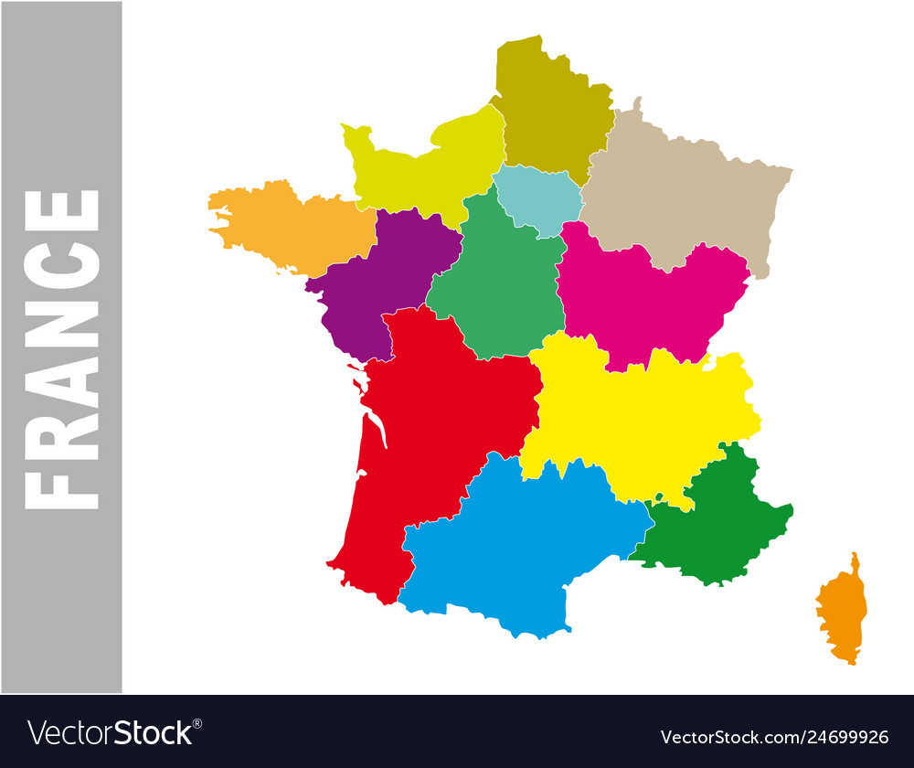 Map Of France Political.Colorful France Administrative And Political Map