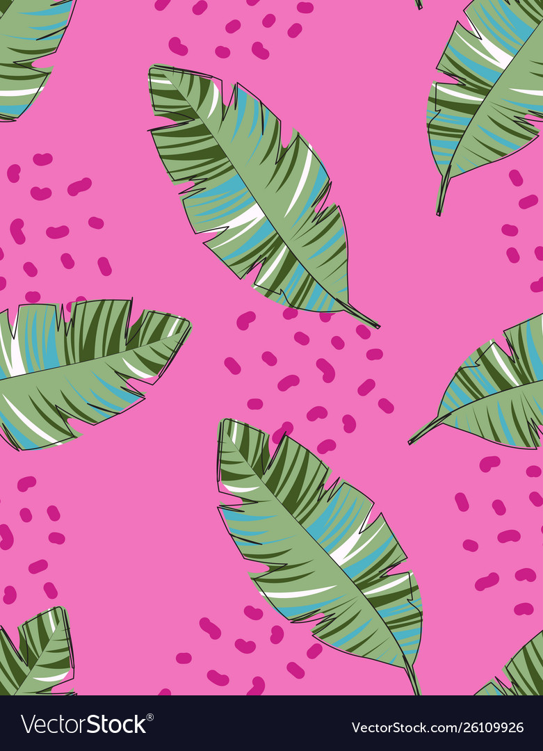 Creative pattern with palm leaves