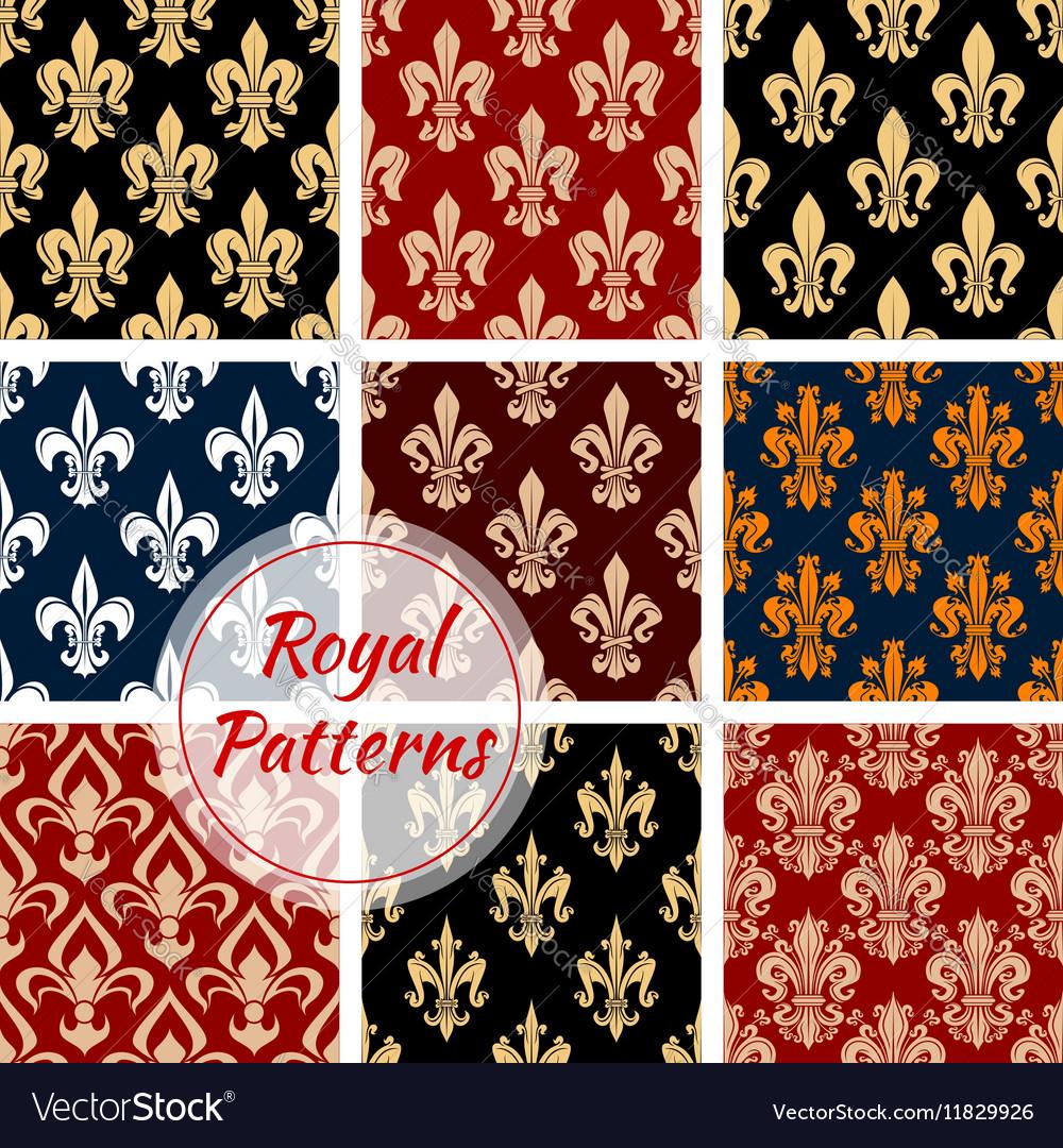 Fleur-de-lys french royal seamless pattern