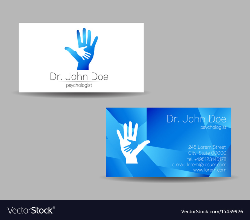 Psychology visit card modern logo royalty free vector image psychology visit card modern logo vector image reheart Gallery