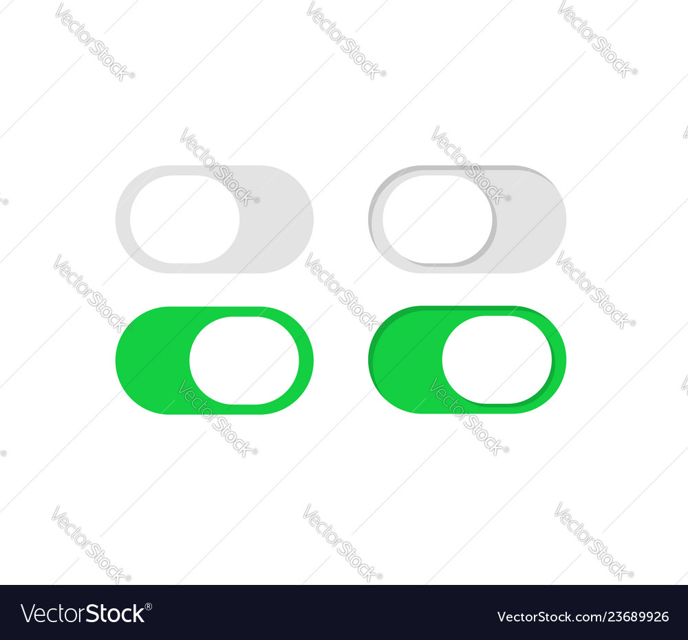 Slide or toggle buttons set flat switch