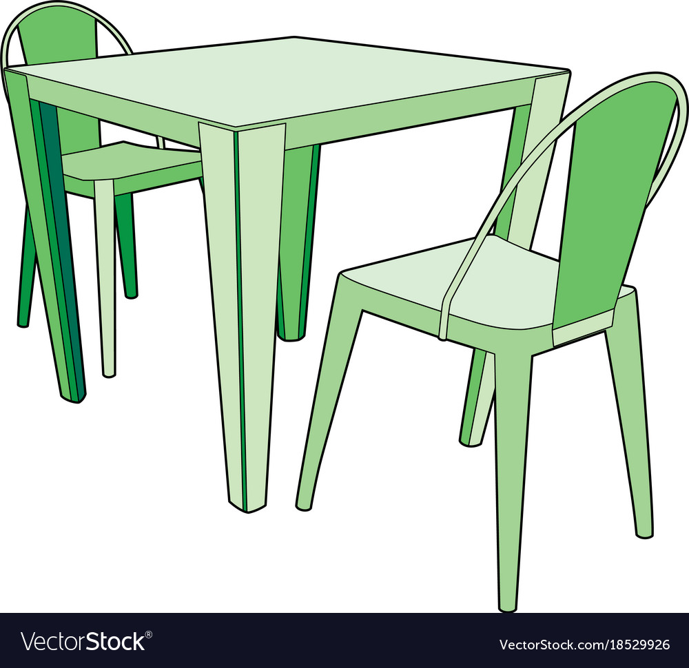 Two Chairs Royalty Free Vector Image