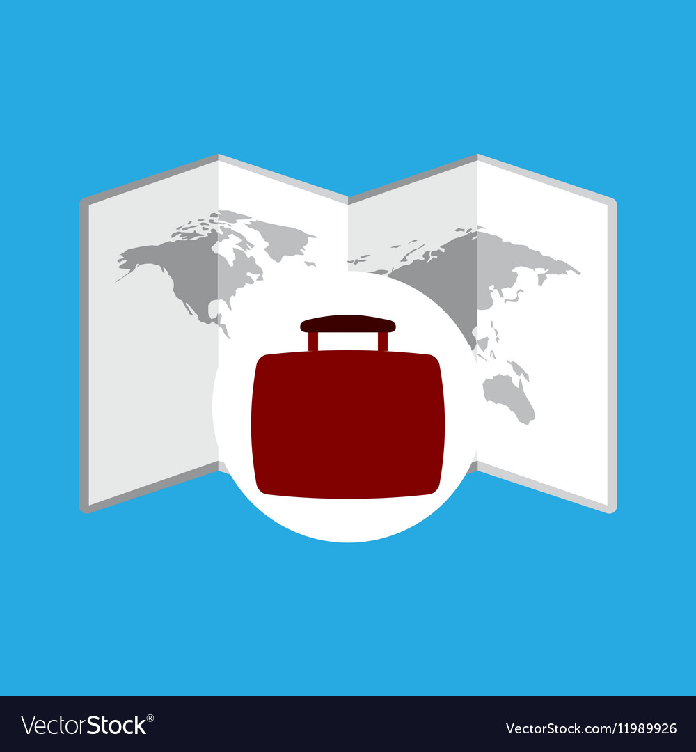 Travel concept world map icon
