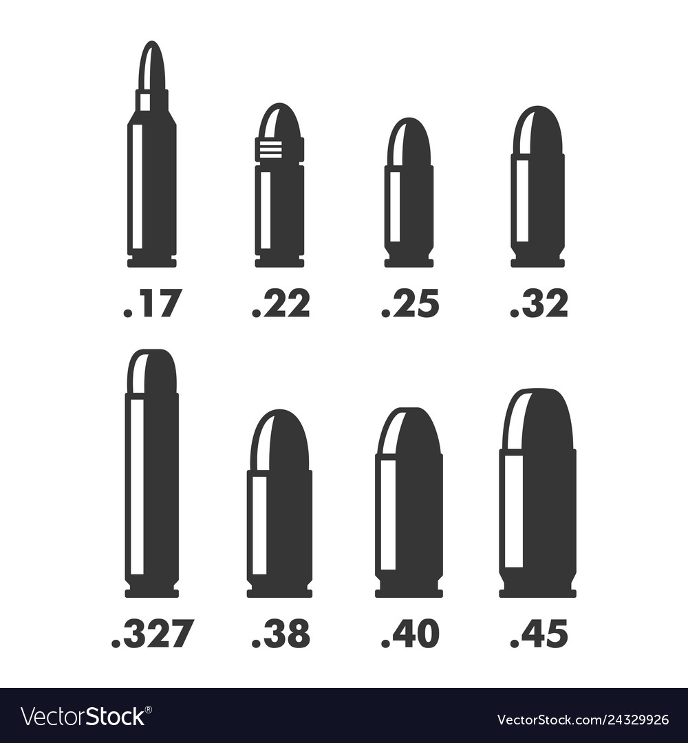 Weapon bullets sizes calibers and types chart