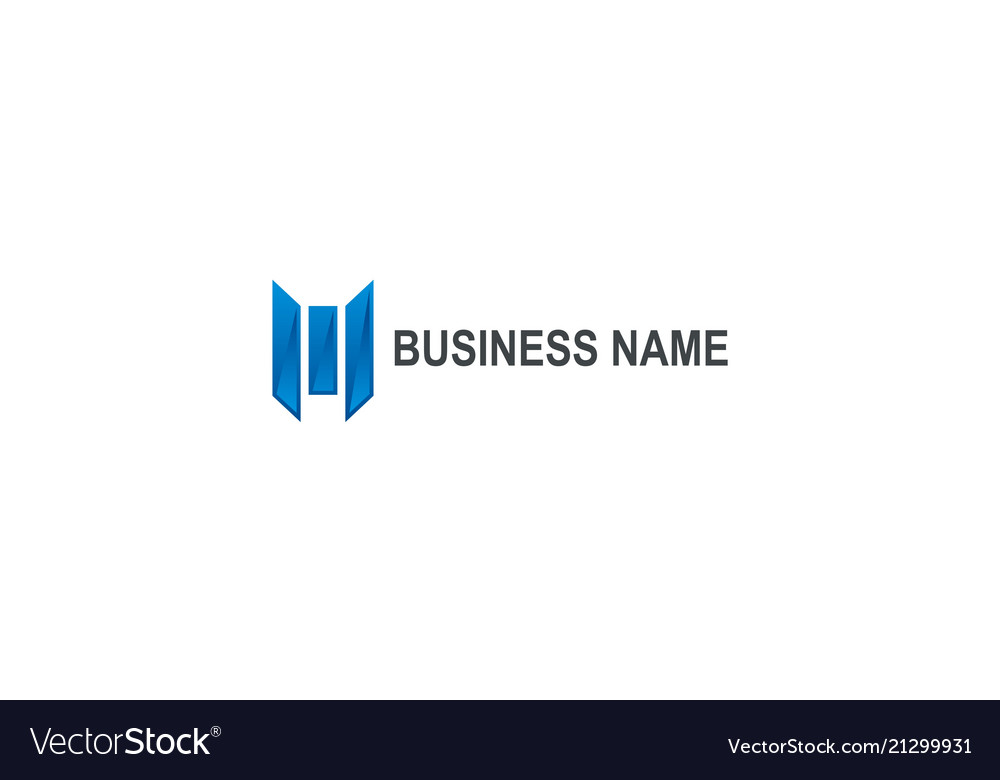 Abstract line construction business finance logo