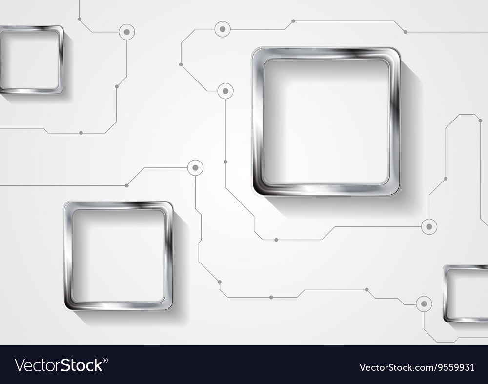 Abstract technology background with lines and