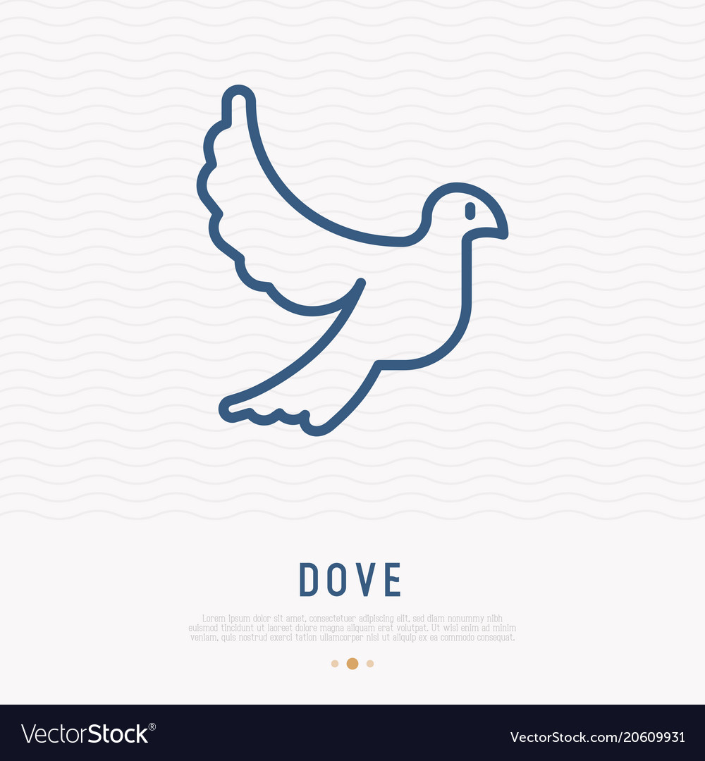 Dove thin line icon