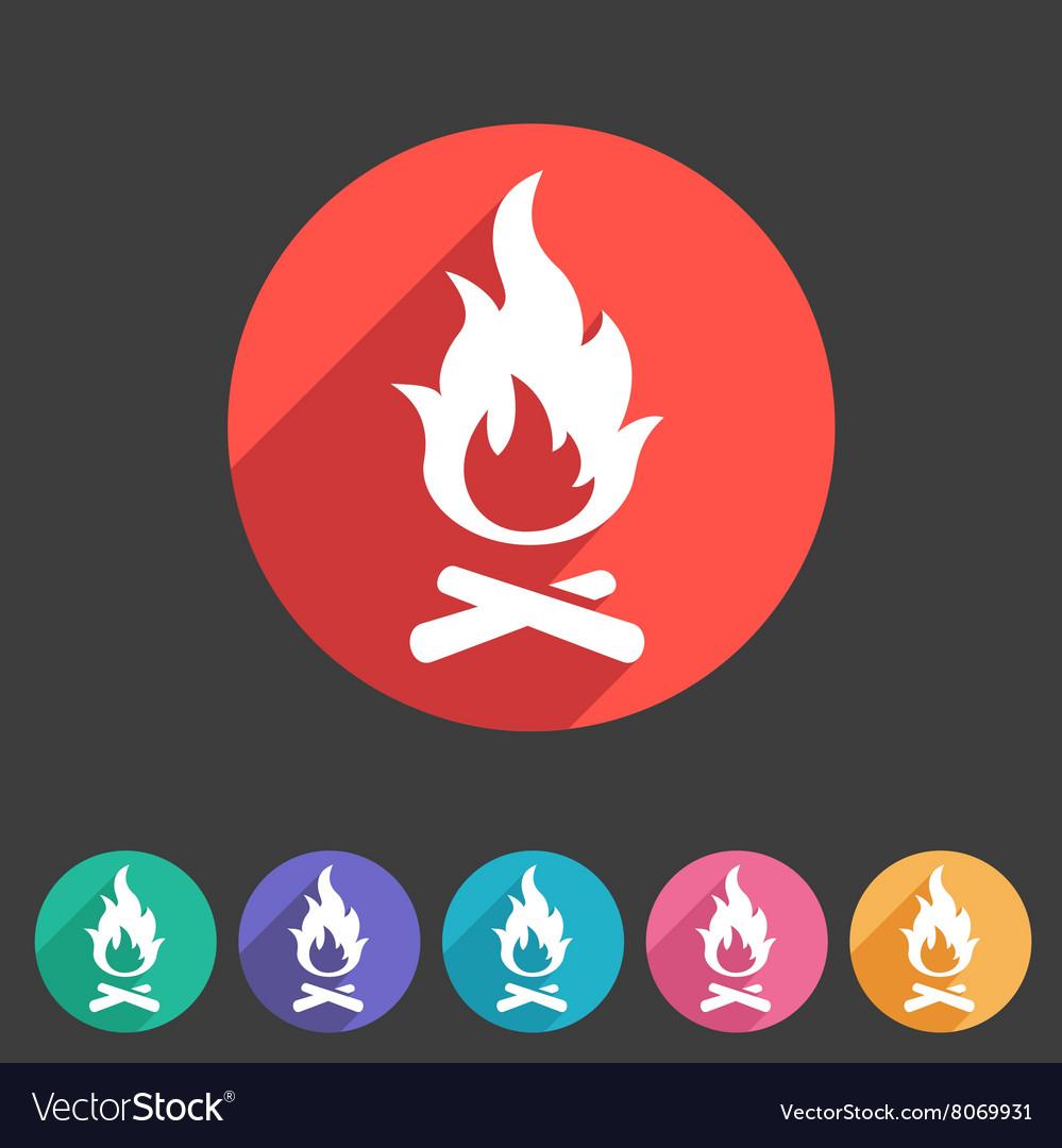 Fire icon flat web sign symbol logo label