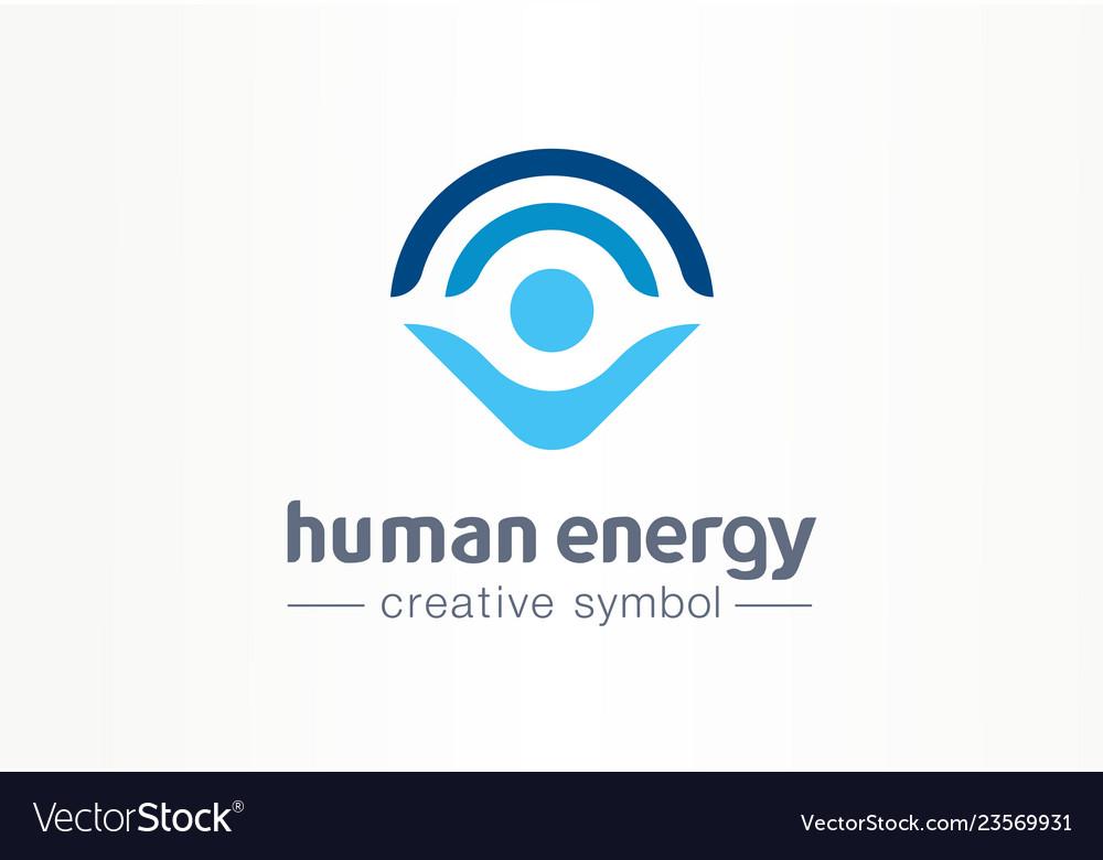 Human energy creative symbol medical concept