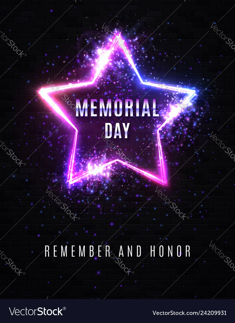 Memorial day remember and honor usa background