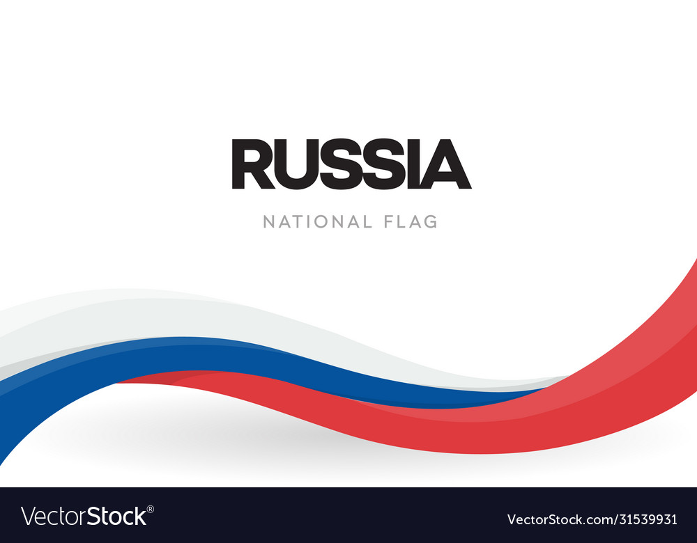 Russian federation national waving flag banner