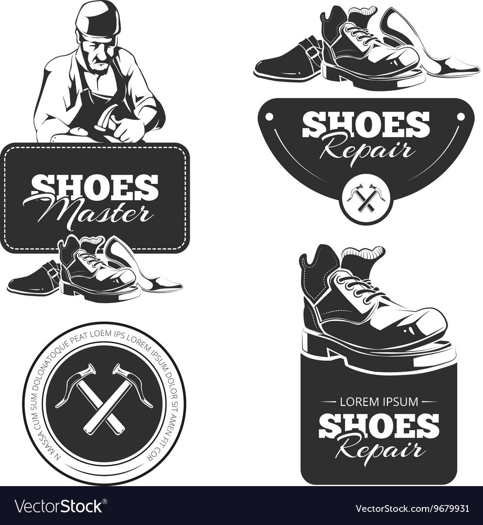 Shoes repair vector image