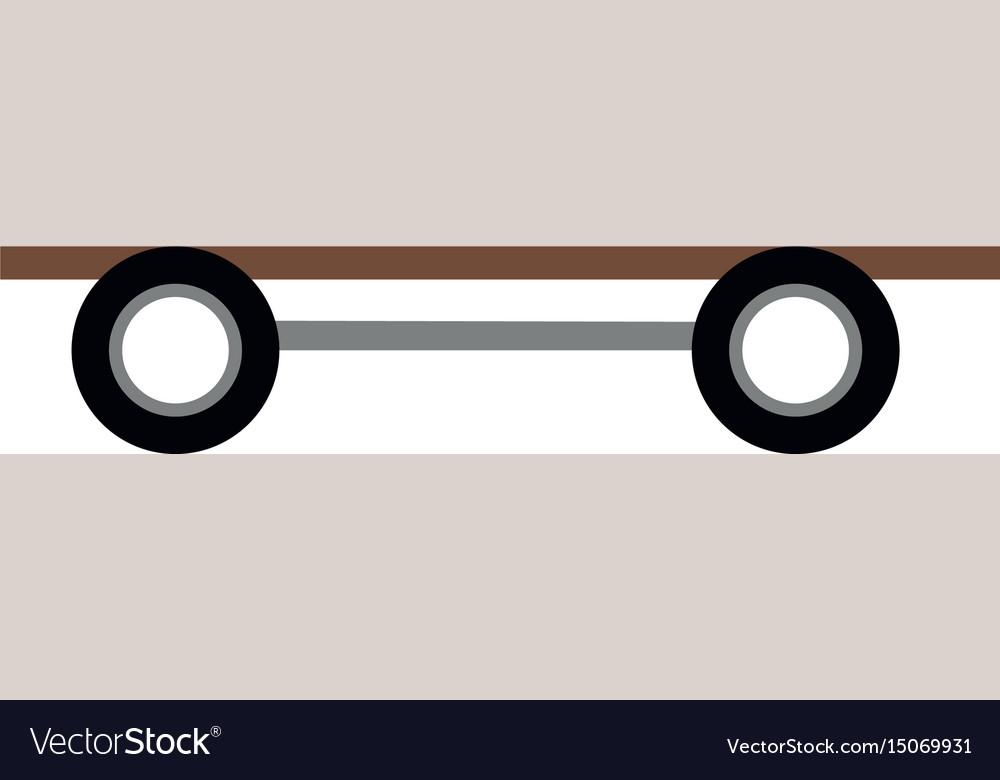 Skate board wooden wheels image icon