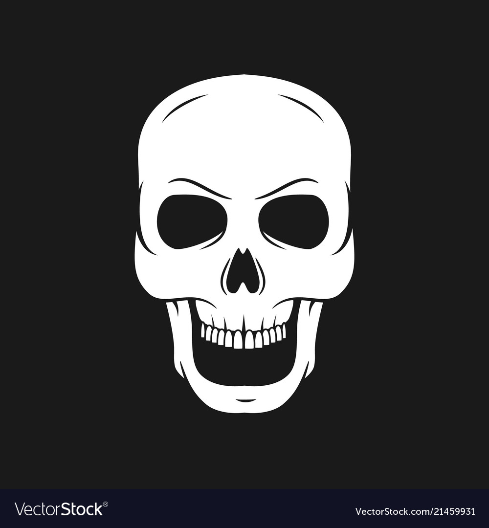 Skull on a pirate flag hand drawn skulls