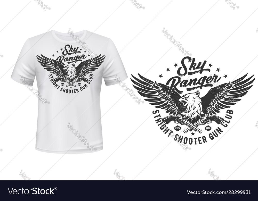 T-shirt print template eagle shooters club