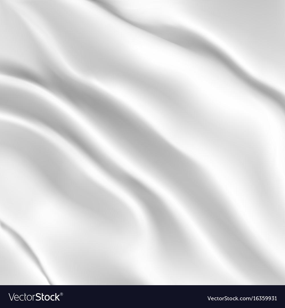 White silk fabric vector image
