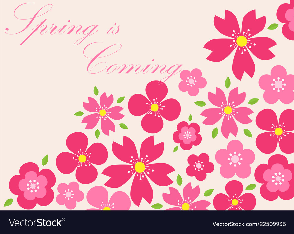 Spring background spring is coming eps 10