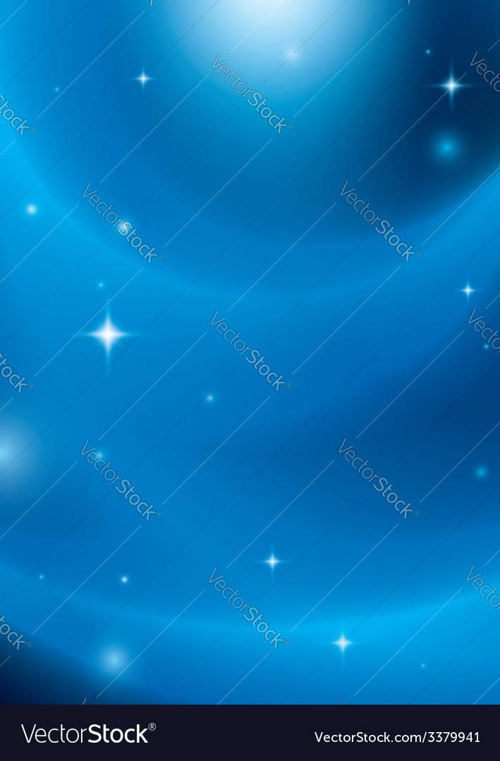 Blue abstract background with stars and lights